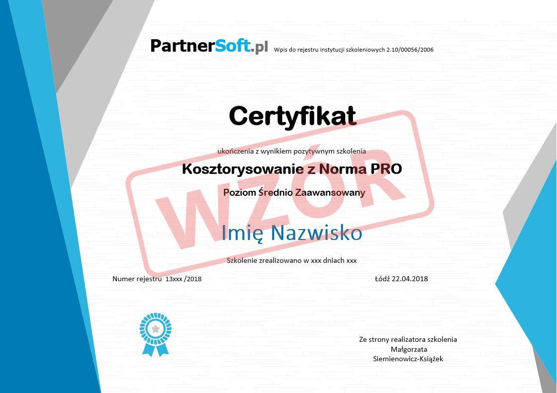 Wzor Certyfikatu